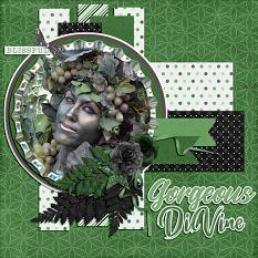 CT Layout using Paint Chips Fern Green by Connie Prince