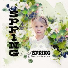 Layout using ScrapSimple Digital Layout Collection:Spring Park