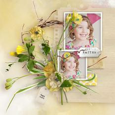 layout using Easter 2020 Embellishment biggie by Florju Designs