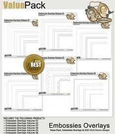 Value Pack: Embossies Overlays by Silvia Romeo