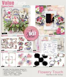Flowery Touch Clusters Embellissments Details