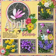 CT Layout using #2020 April by Connie Prince