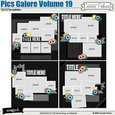 Pics Galore Volume 19 12x12 Templates by Connie Prince