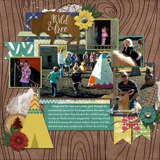 CT Layout using Pics Galore Volume 19 12x12 Templates by Connie Prince