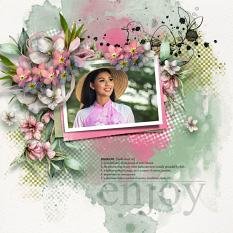 Layout using ScrapSimple Digital Layout Collection:Blossom Day