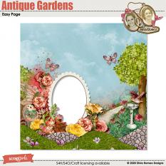Antique Gardens Quick Page by Silvia Romeo