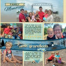 """Family Memories"" digital layout features SSDLAT: Scrap It Monthly 6, Series 2"