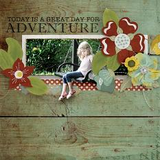 Today Is A Great Adventure Layout by AFT Designs - Amanda Fraijo-Tobin @ScrapGirls.com
