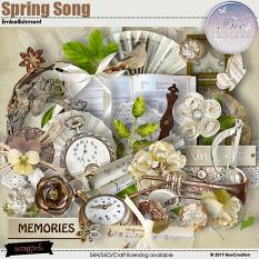 Spring Song Embellishment by BeeCreation