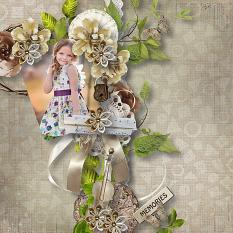 layout using Spring Song Collection by BeeCreation