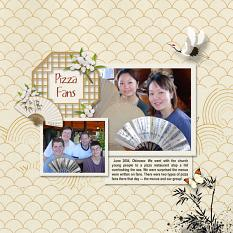 Layout using ScrapSimple Digital Layout Collection:DistantTime