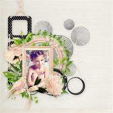 layout using Cherry Blossom Collection by BeeCreation