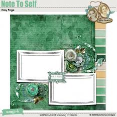 Note To Self Easy Page by Silvia Romeo