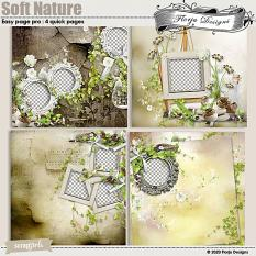Soft Nature Easy Page Pro : 4 Quick Pages by Florju Designs