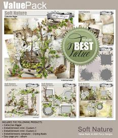 layout using Soft Nature Easy Page Pro : 4 Quick Pages by Florju Designs