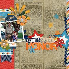 CT Layout using Scout's Honor by Connie Prince
