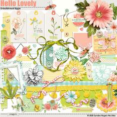 Embellishments included in the Hello Lovely Collection Biggie