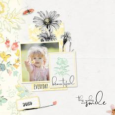 Layout by Geraldine Touitou using the Hello Lovely product line