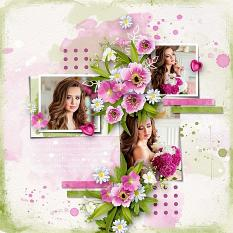Layout using ScrapSimple Digital Layout Collection:Remember to Smile