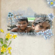 Layout using ScrapSimple Digital Layout Collection:The Soft Blue
