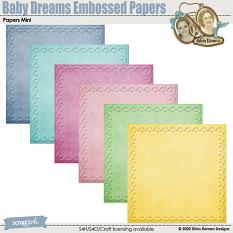 Baby Dreams Embossed Papers by Silvia Romeo