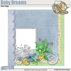 Baby Dreams Easy Page by Silvia Romeo