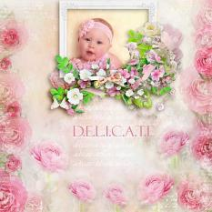 layout using Fleurie Collection by BeeCreation