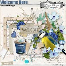 Welcome Here Embellishment Biggie by florju designs