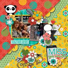 CT Layout using Together Apart by Connie Prince