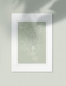 Wall art created using Sketchy Botanicals brushes