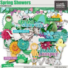 Spring Showers Embellishments
