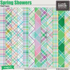 Spring Showers Plaid Papers