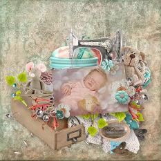 layout using Sew Collection by BeeCreation
