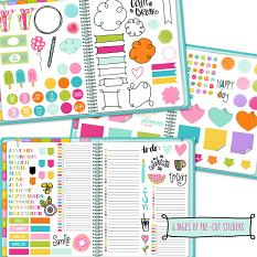 Pre-cut planner stickers for GoodNotes