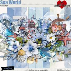 ScrapSimple Digital Layout Collection:Sea World