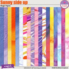 Sunny side up magic papers by HeartMade Scrapbook