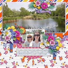 Summer days layout using Sunny side up collection biggie by HeartMade Scrapbook