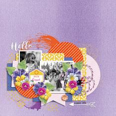 Sun kissed layout using Sunny side up collection biggie by HeartMade Scrapbook