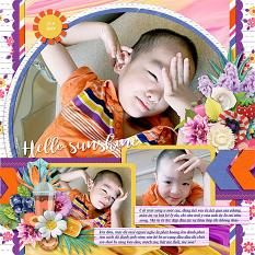 Sunny side up layout using Sunny side up collection biggie by HeartMade Scrapbook
