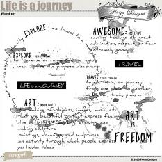 layout using Life is a Journey Collection Biggie by Florju Designs