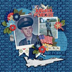 CT Layout using Armed Forces by Connie Prince