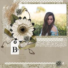 Beauty Layout using Serendipty Collection Mini