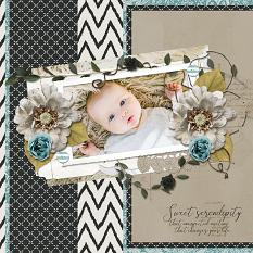 Sweet Serendipity layout using Serendipty Collection Biggie