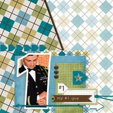 """""""My #1 Guy"""" digital scrapbooking layout using Just For Him Collection Mini"""