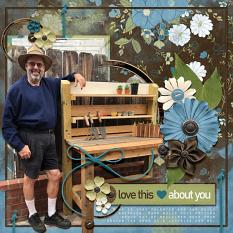 """""""Love This Guy"""" digital scrapbooking layout using Just For Him Collection Mini"""