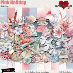 ScrapSimple Digital Layout Collection:pink holiday