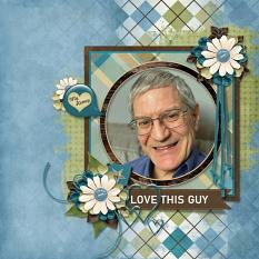 """""""My Honey"""" digital scrapbooking layout using Just For Him Collection Mini"""