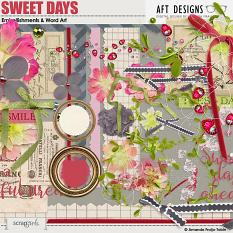 Sweet Days Embellishments and Word Art