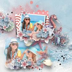 Layout using ScrapSimple Digital Layout Collection:pink holiday