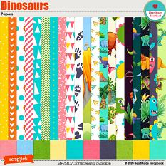 Dinosaurs papers by HeartMade Scrapbook